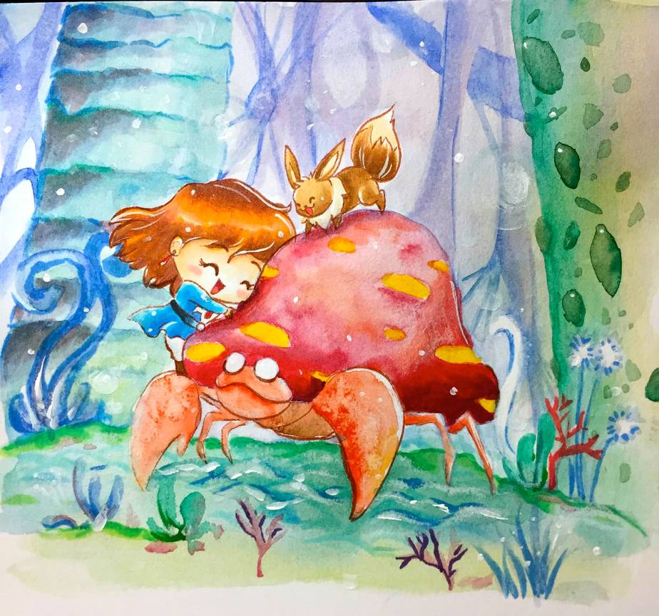 Pokezaki Series 4- Nausicaa And Parasect And Eevee By