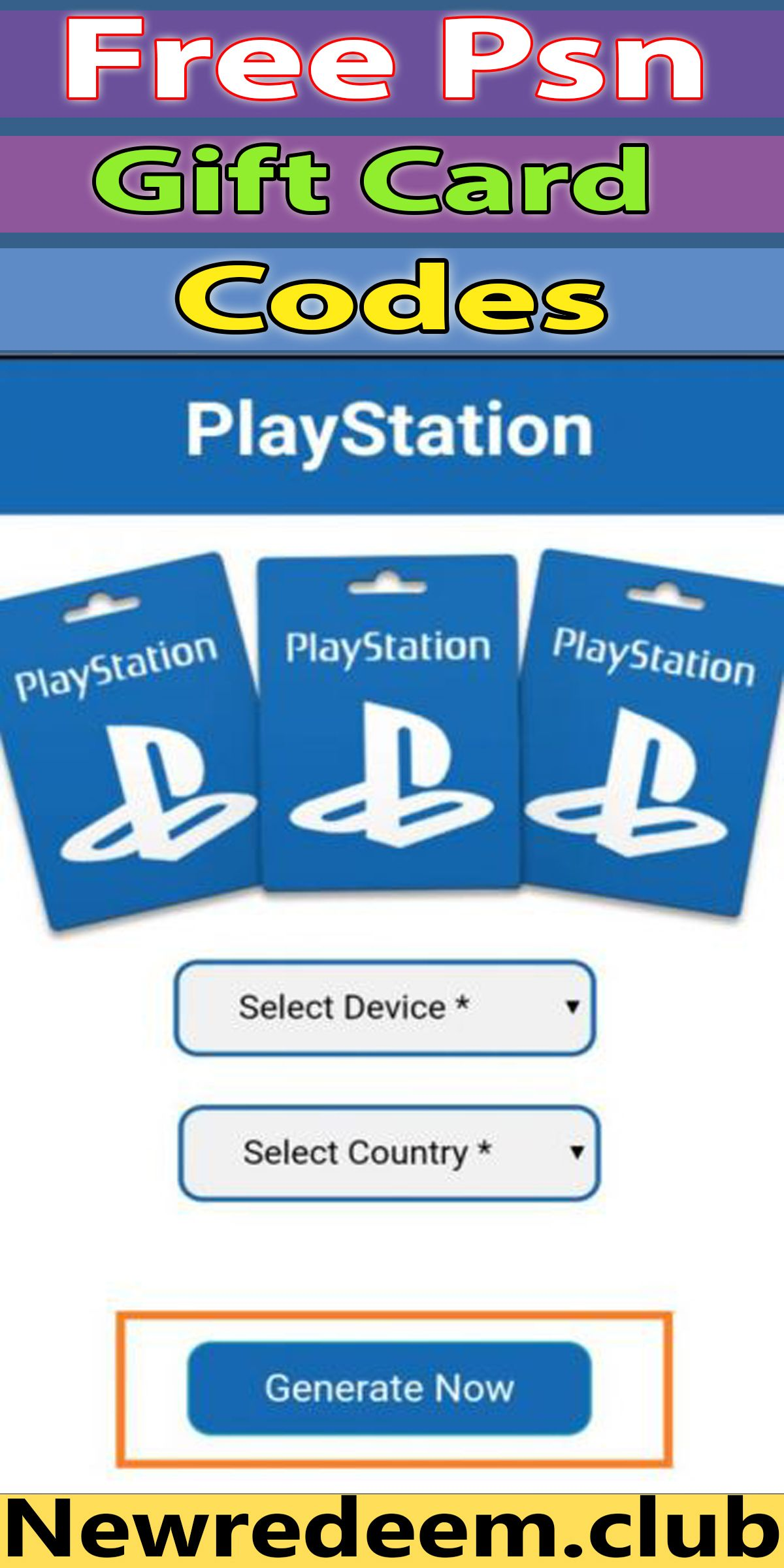 Free Psn Codes Psn Code Generator Online 2020 100 Working Free Gift Cards Free Gifts Ps4 Gift Card