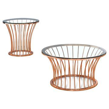 Occasional Table Set Copper Bangle - Furniture of America living
