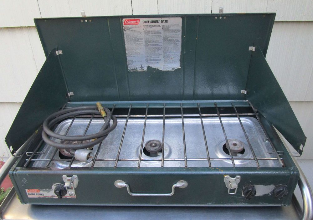 Vintage Coleman Propane Camping Cook Stove Guide Series 5428