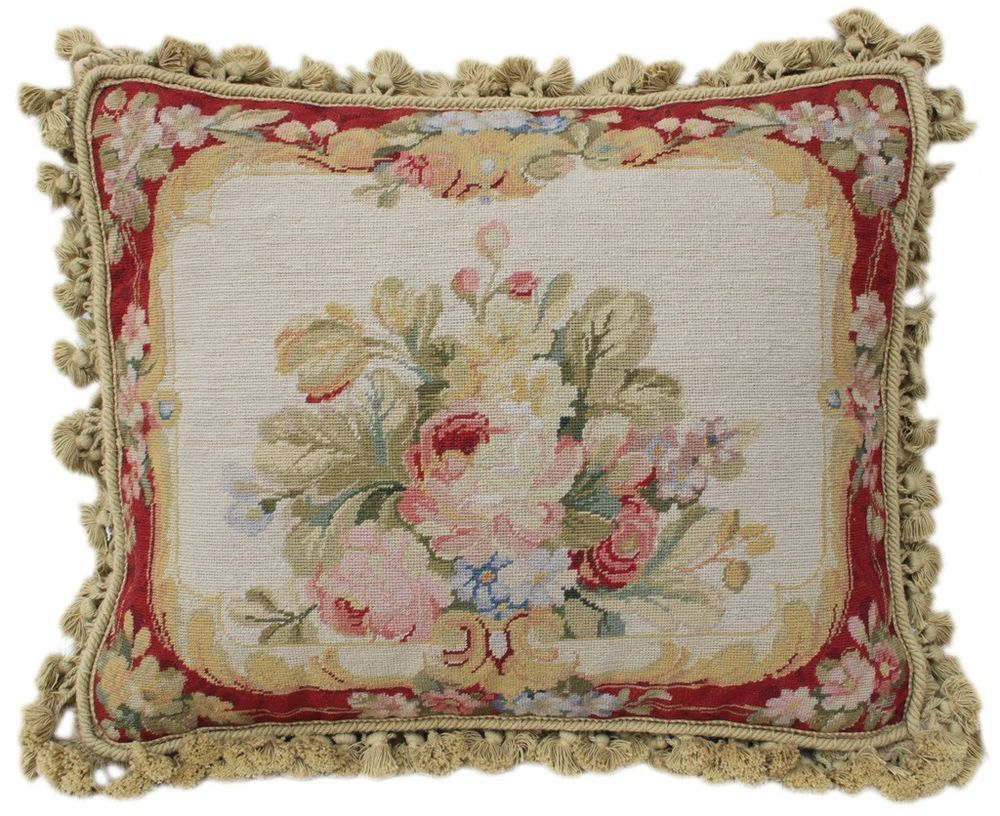 20 beautiful french country style needlepoint pillow rose