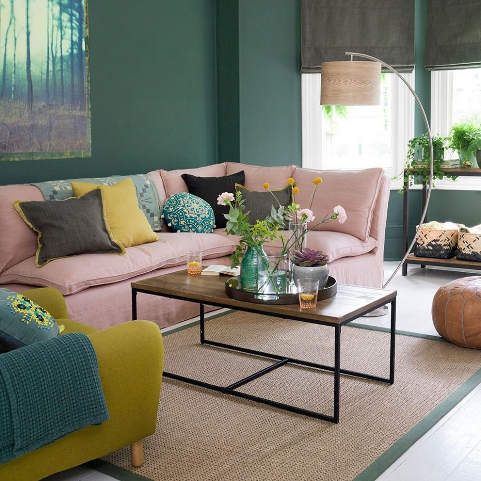 10+ Best Pink And Green Living Room Ideas