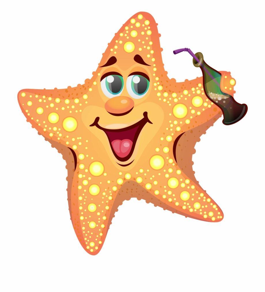 Summer Star Starfish Patrick Drawing Cartoon Clipart