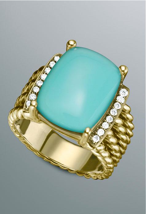 David Yurman turquoise & 18k