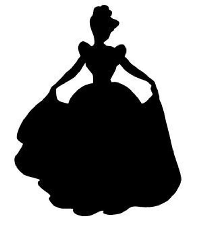 Cinderella Silhouette Vinyl Decal Sticker Car Window Laptop Wall Choose Size And Color Disney Princess Silhouette Cinderella Silhouette Disney Silhouettes