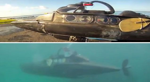 Olivier Feuillette Turns Kayak Into -Powered Submarine | The ... on 2 seater submarine plans, wood submarine plans, experimental submarine plans, i 400 submarine plans, diy submarine plans, personal submarine plans, s-class submarine plans, one man submarine plans, two-man submarine plans, small submarine plans, submarine construction plans, submarine design plans,