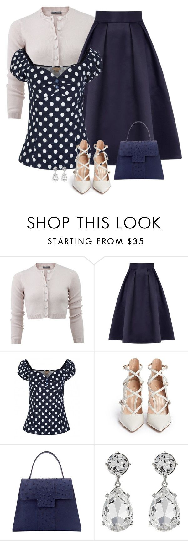 """""""retro look"""" by divacrafts ❤ liked on Polyvore featuring Alexander McQueen, Coast, Gianvito Rossi, Kenneth Jay Lane and Original"""
