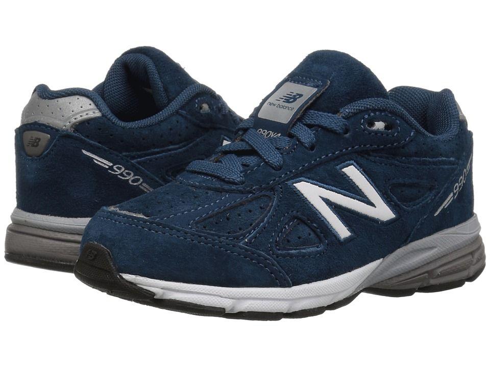 5cc591e74457d New Balance Kids KJ990v4I (Infant/Toddler) Boys Shoes North Sea/Silver
