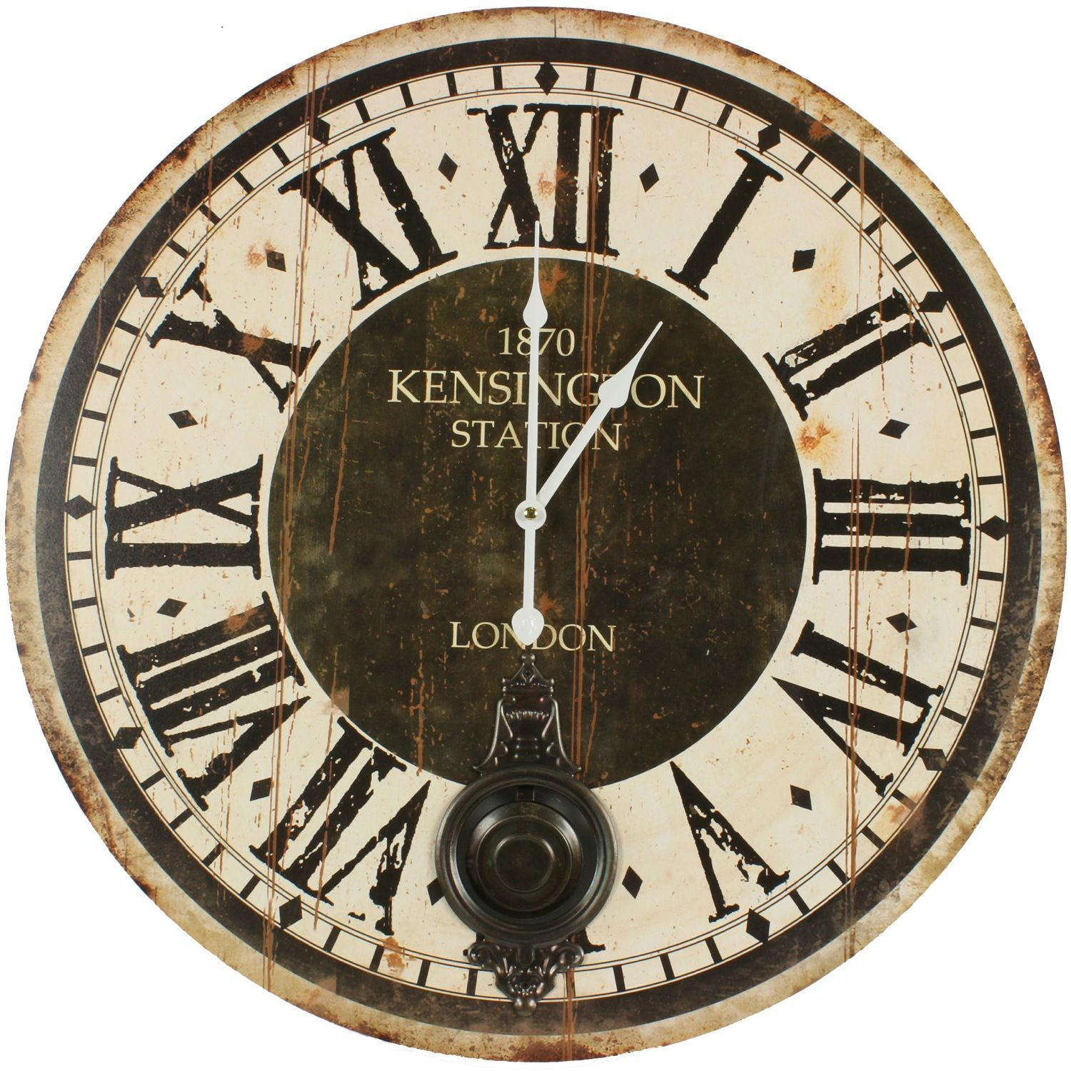 horloge ancienne balancier 1870 kesington station london. Black Bedroom Furniture Sets. Home Design Ideas