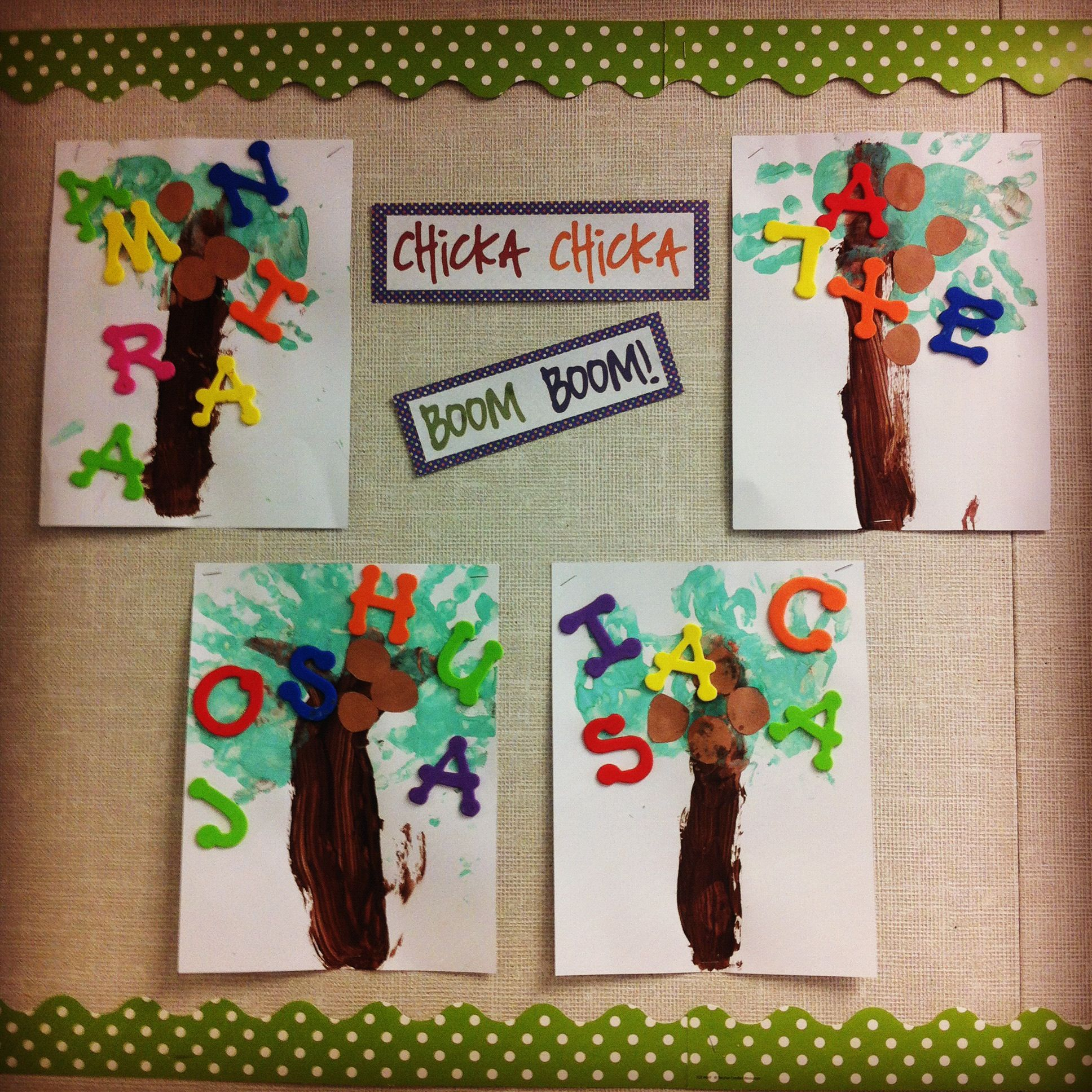 Chicka Chicka Boom Boom Abc Hand Print Tree With Name