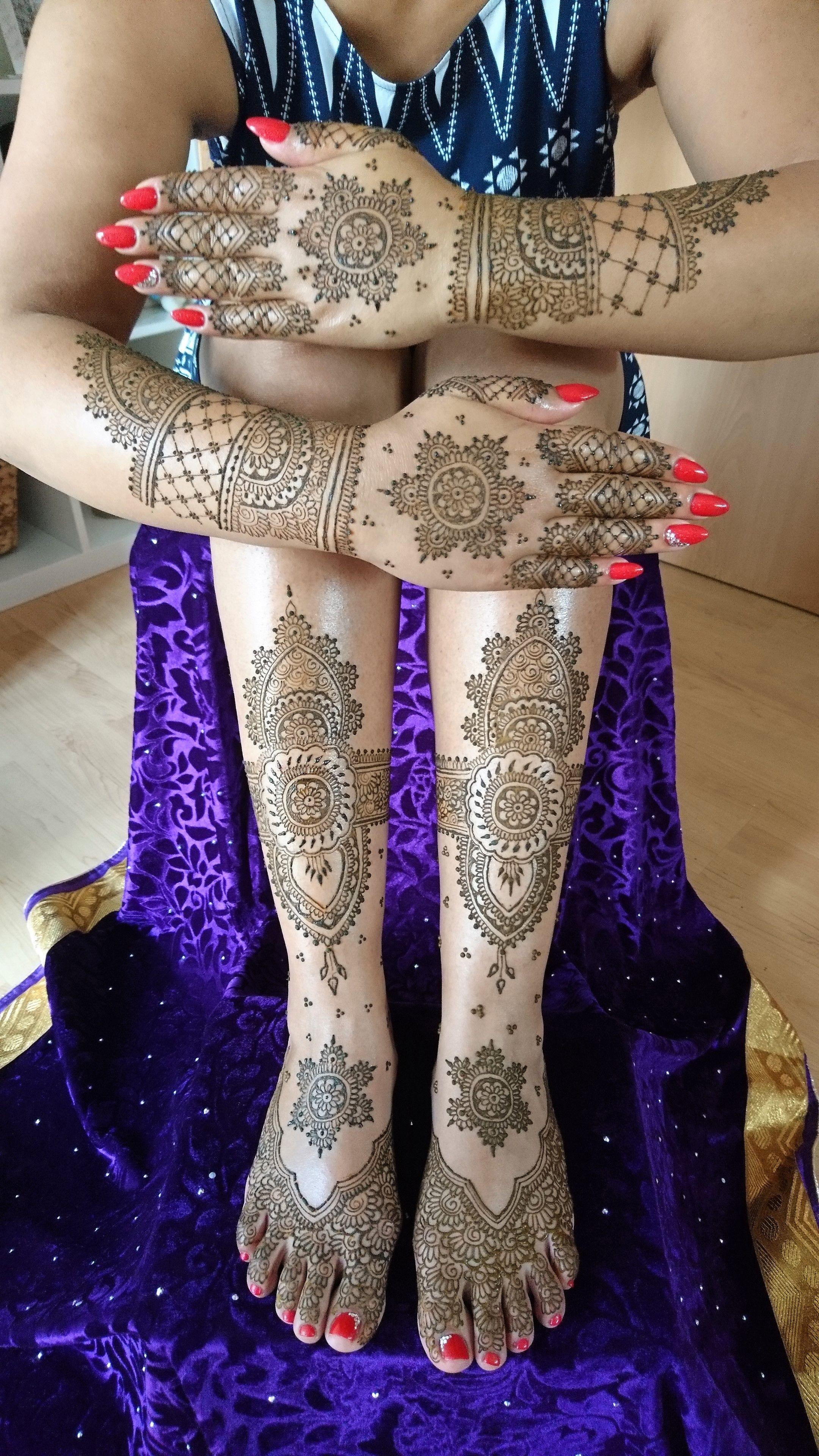 Henna Tattoo Kaufen Basel: Full Bridal Mehendi By Henna Art Schweiz