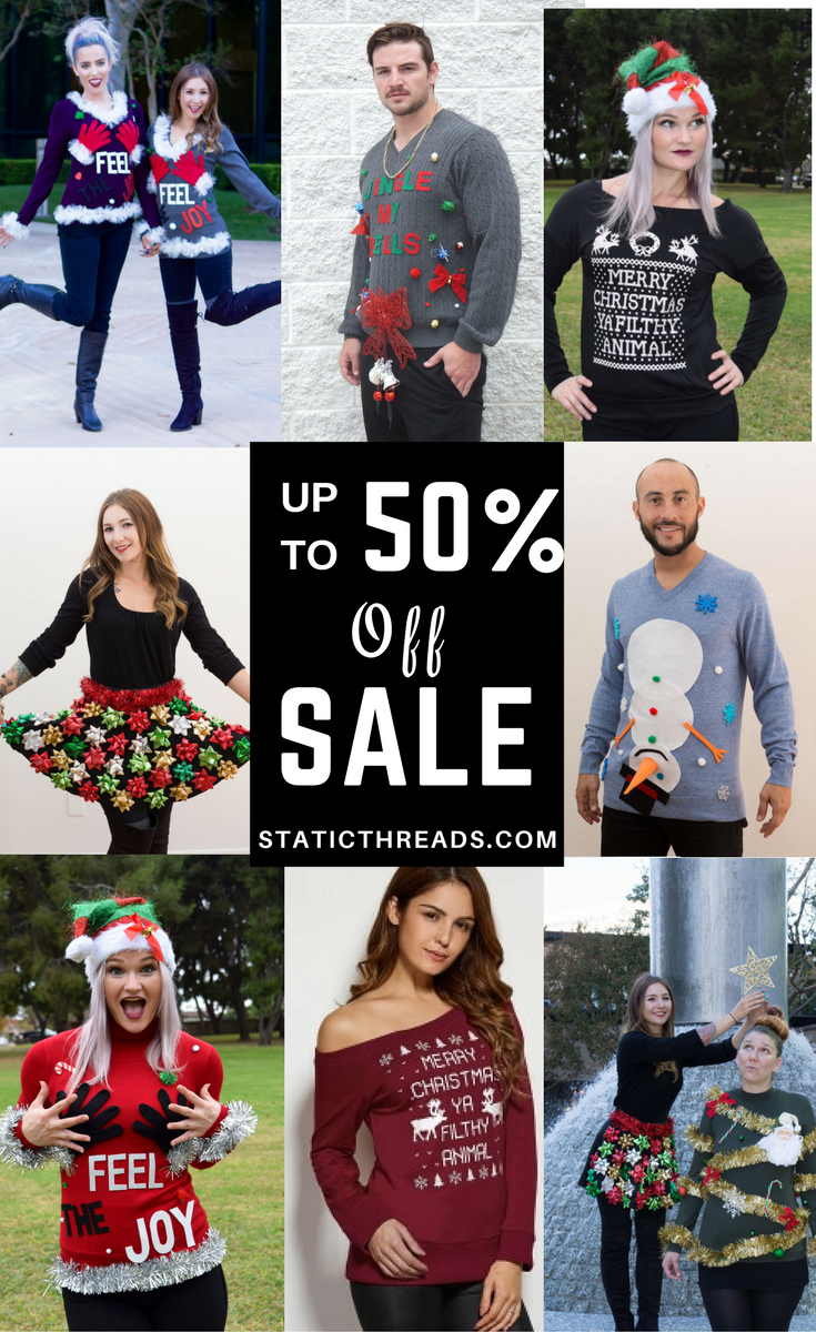 9402f331fb Best Ugly Christmas Sweaters are now up to 50% off at staticthreads.com  comment