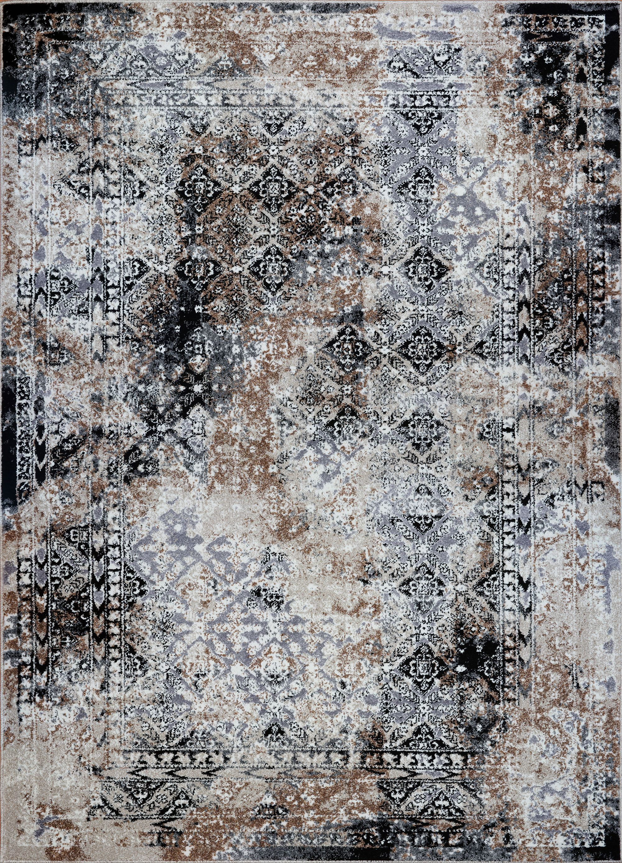 Grey Cream Abstract Area Rug Cream Carpet For Living Room