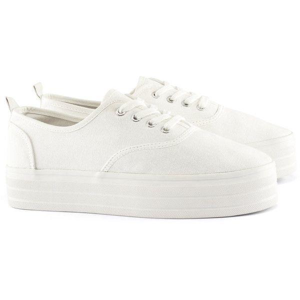 White platform shoes, Platform sneakers