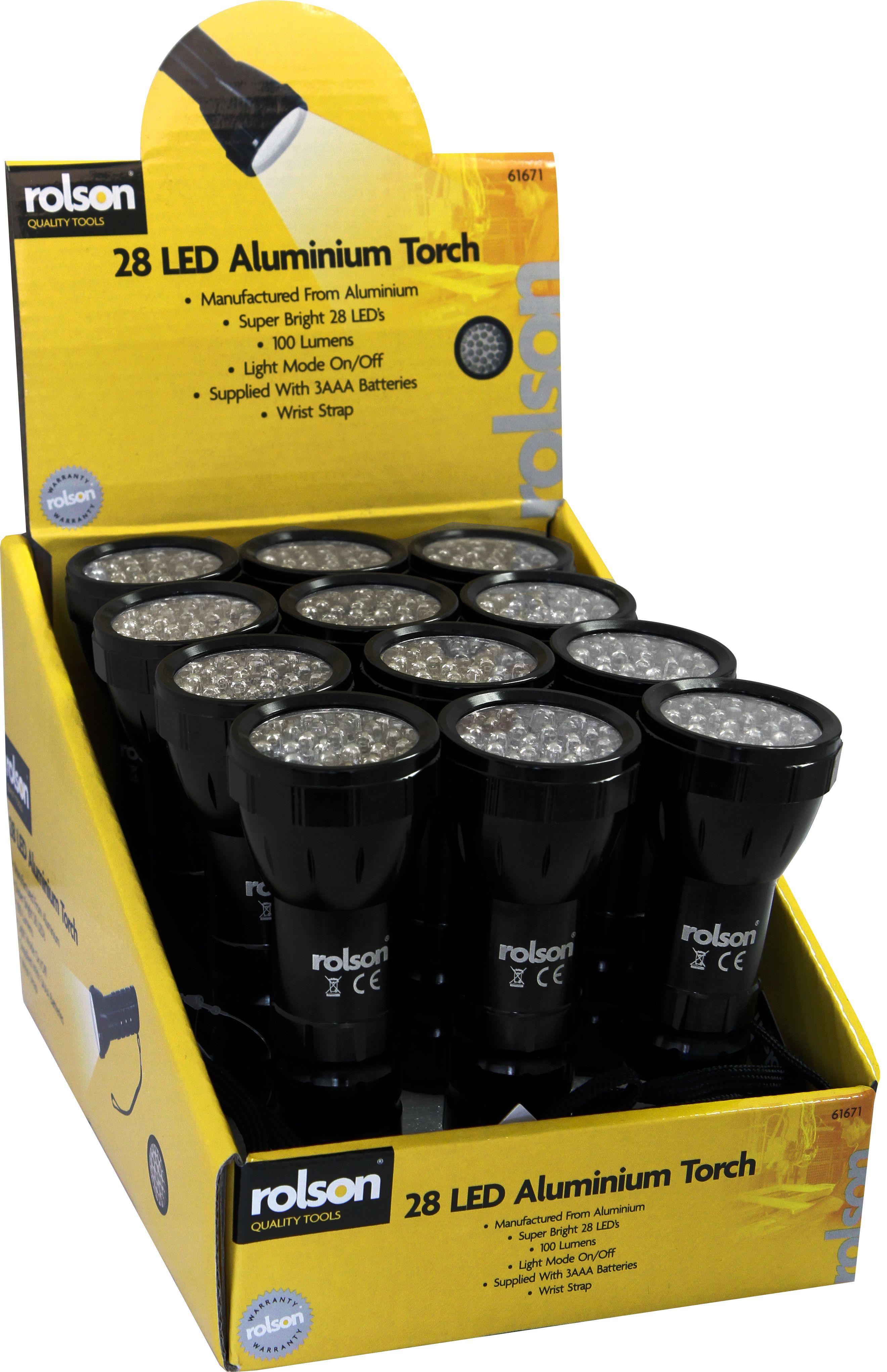 Rolson 61671 28 LED Aluminium Torch