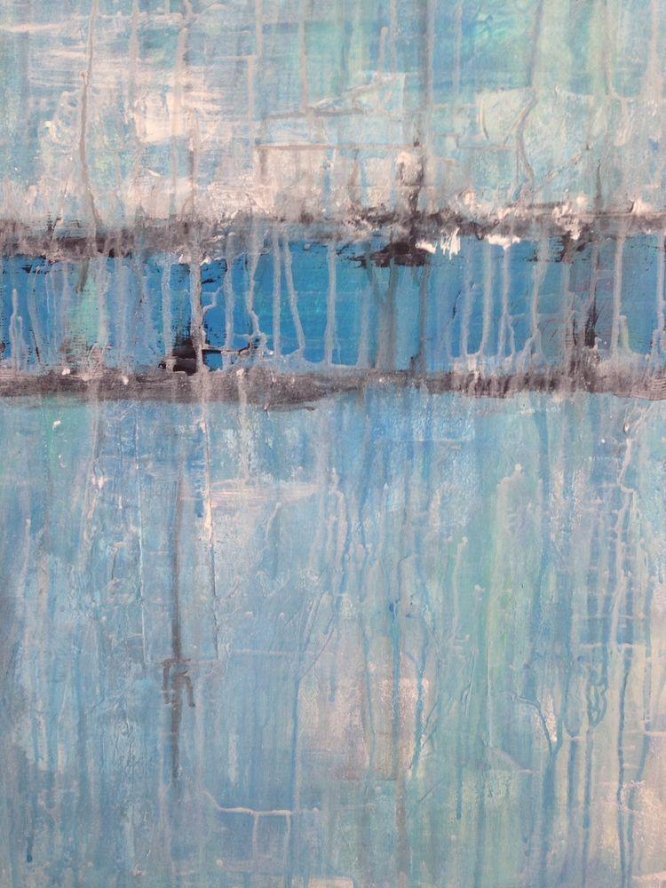 Acryl abstrackt abstrackte Malerei Bild Blau Leinwand weiß - leinwand für wohnzimmer