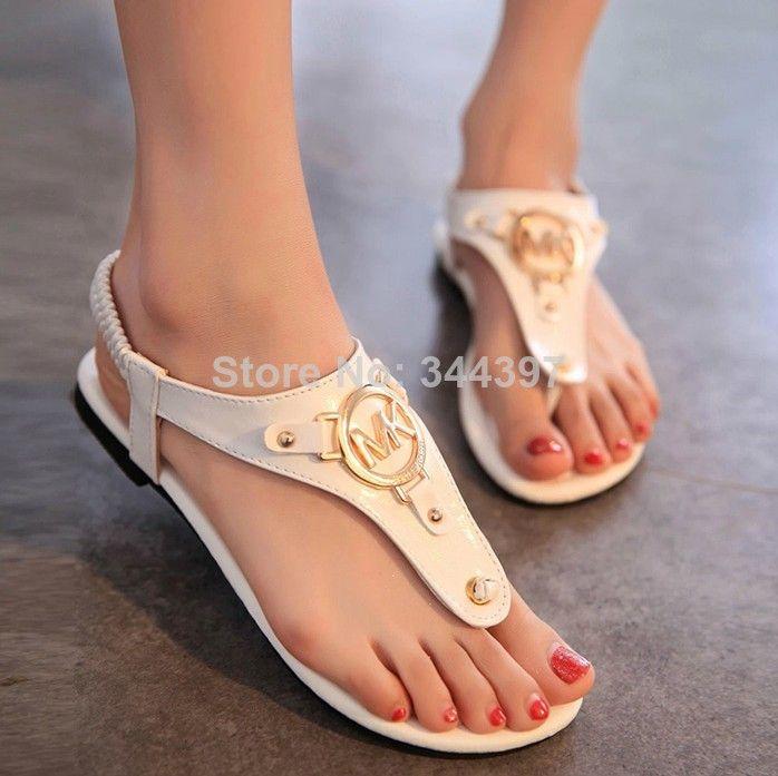 Women shoes new 2014 summer  Roman maiden European metal elastic band clip toe shoes flat Flip-Flops sandals ,size 35-39 $21,58