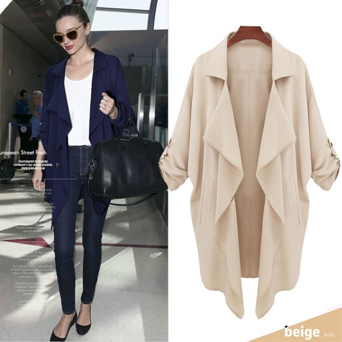 Womens+Double-breastead+simplicity+Blet+Trench+Coat+Jacket+Women+Outerwear+#UnbrandedGeneric+#CasualFashion