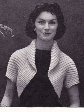 ddc916a2740c5 Free knitting pattern for 50s Ribbed Shrug - easy shrug with just five  steps in pattern  shrugsfordresses