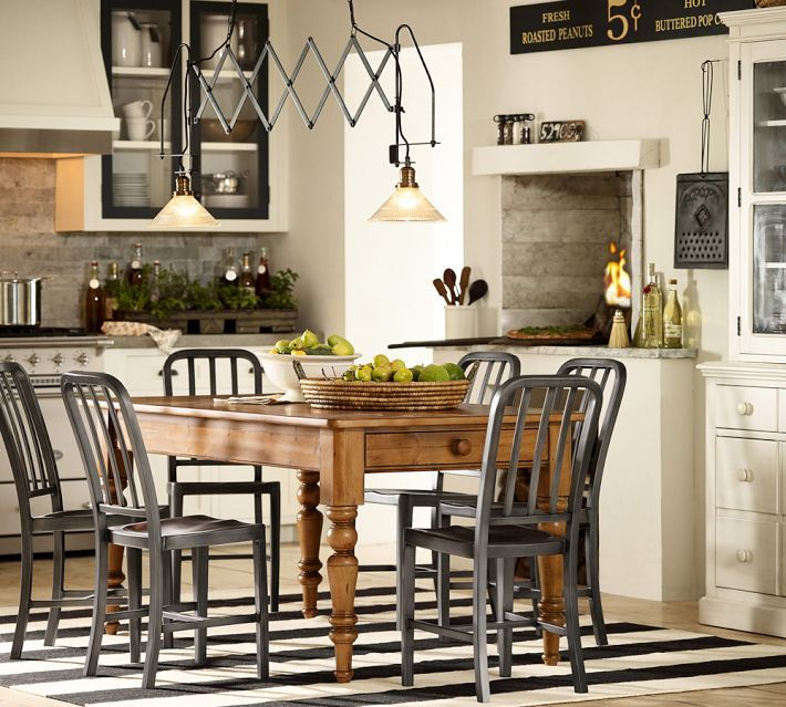 Pottery Barn Kitchen, Notice The Upper Cabinet Doors Trimmed In Black
