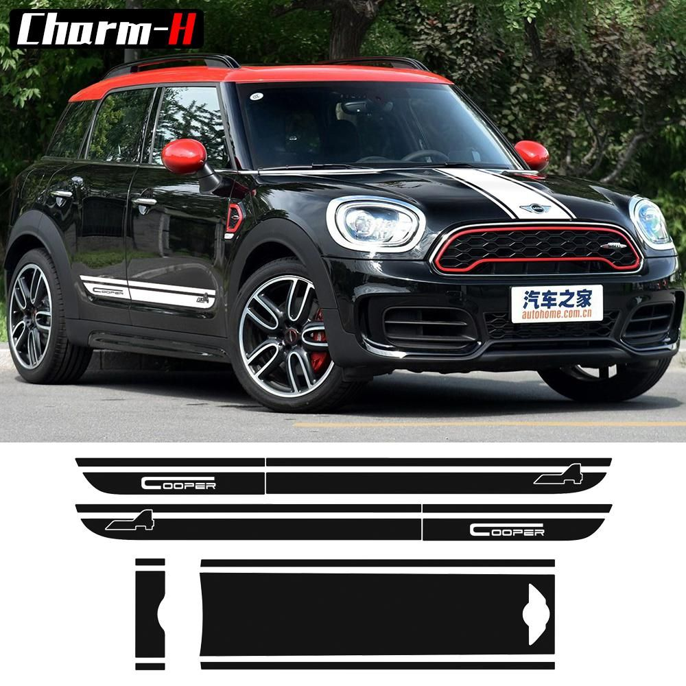 Decal Sticker Stripe Kit For Mini Countryman Cooper S R60 Hood Side Trunk JCW