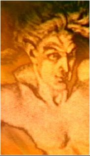 Franz Stassen's depiction of Loge/Logi/Loki - the norse god of lies and fire, whom nobody knows much about.