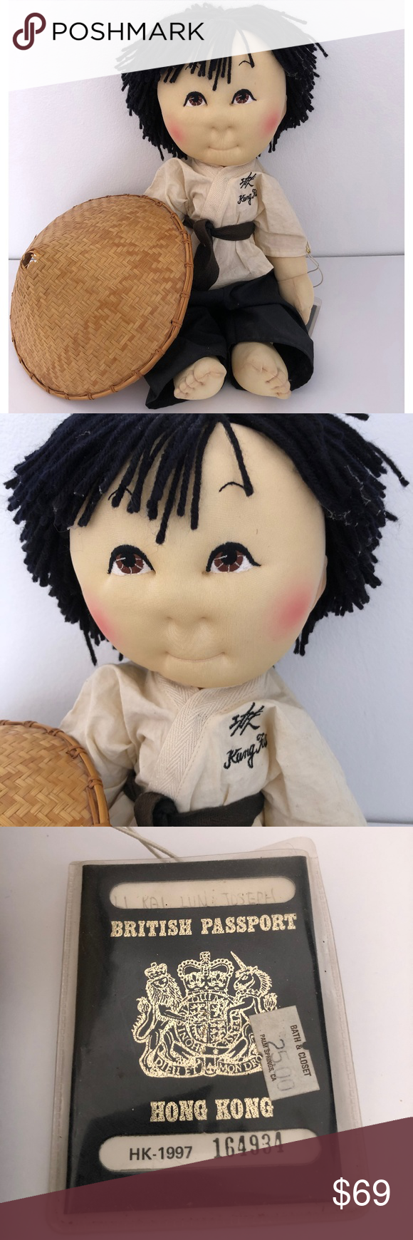Vintage Soft Cloth Doll Rice Paddy Baby Vintage Soft Martial Arts Clothing Cabbage Patch Dolls