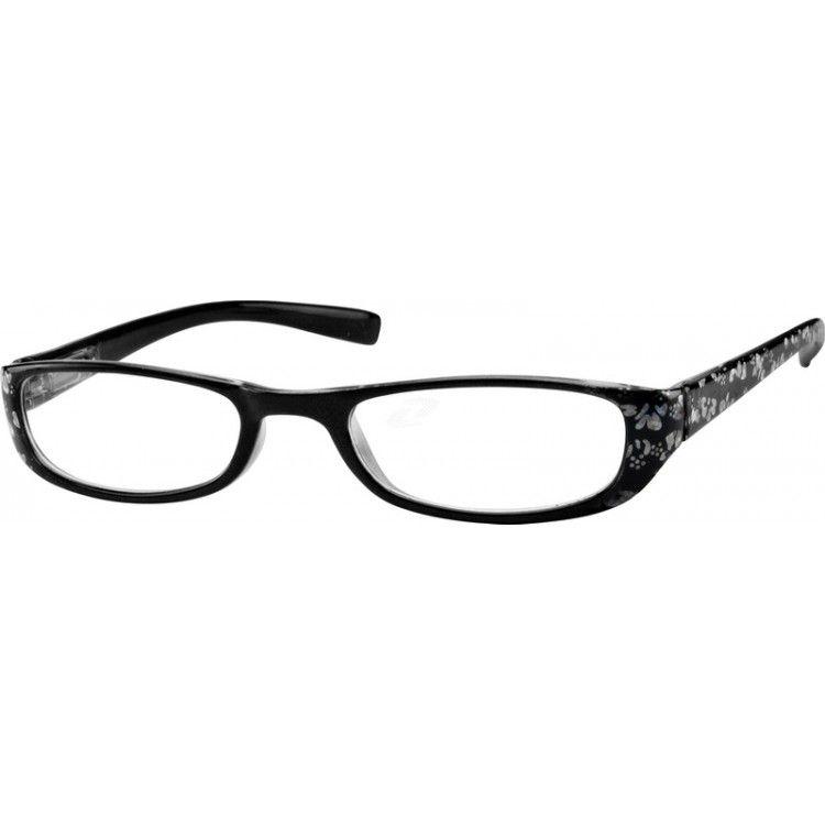 Black Plastic Full-Rim Frame with Spring Hinges #269021 | Zenni ...
