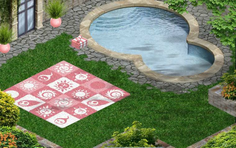 Poolside at my Xanadu Mansion