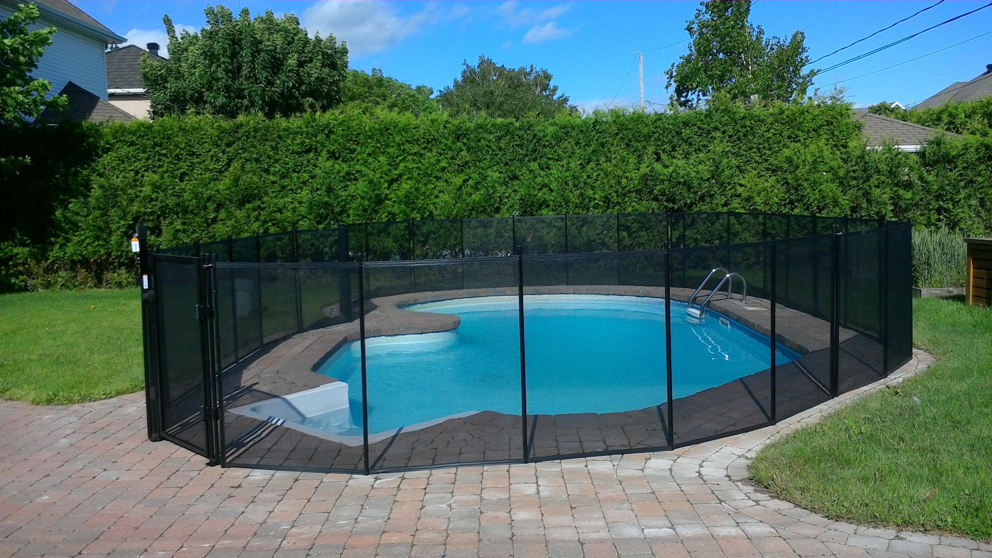 Removable In Ground Swimming Pool Safety Fence Adding A Layer Of