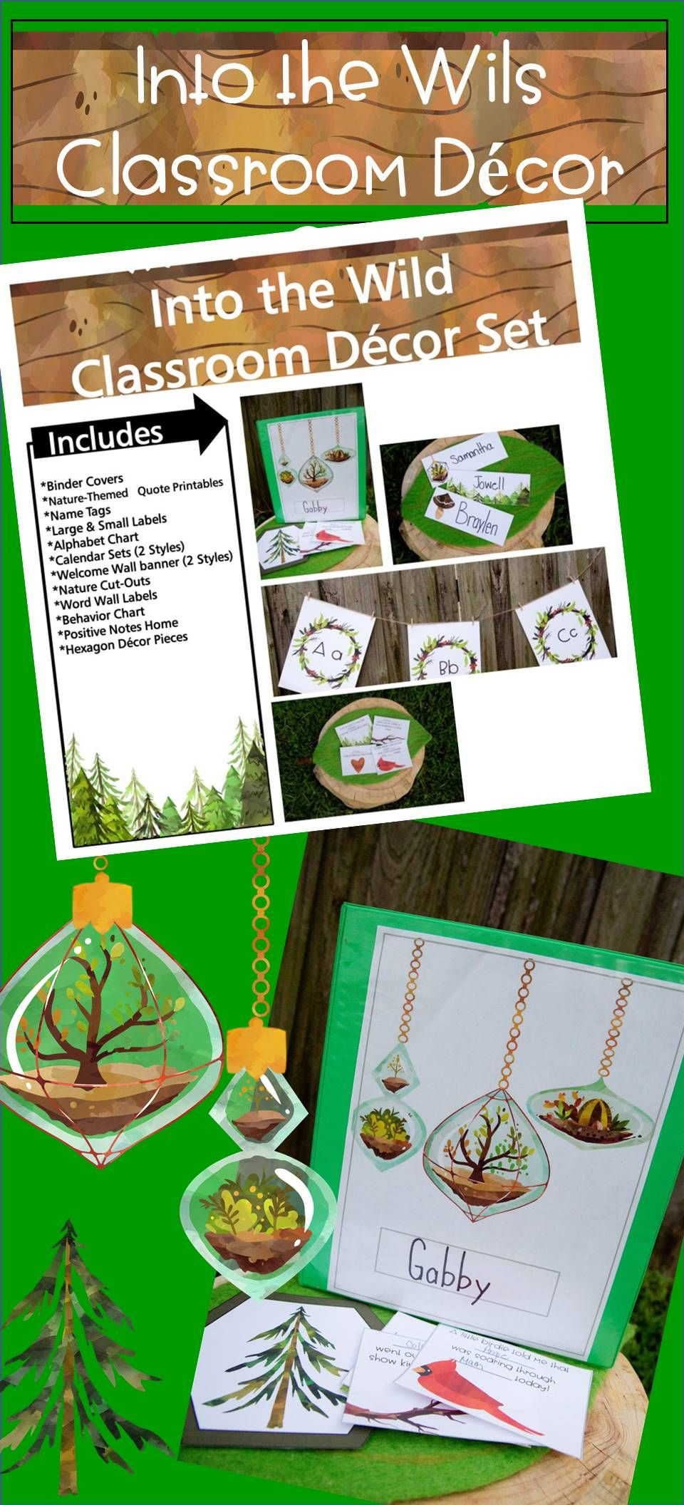 Into the wild classroom decor set coloring books pinterest