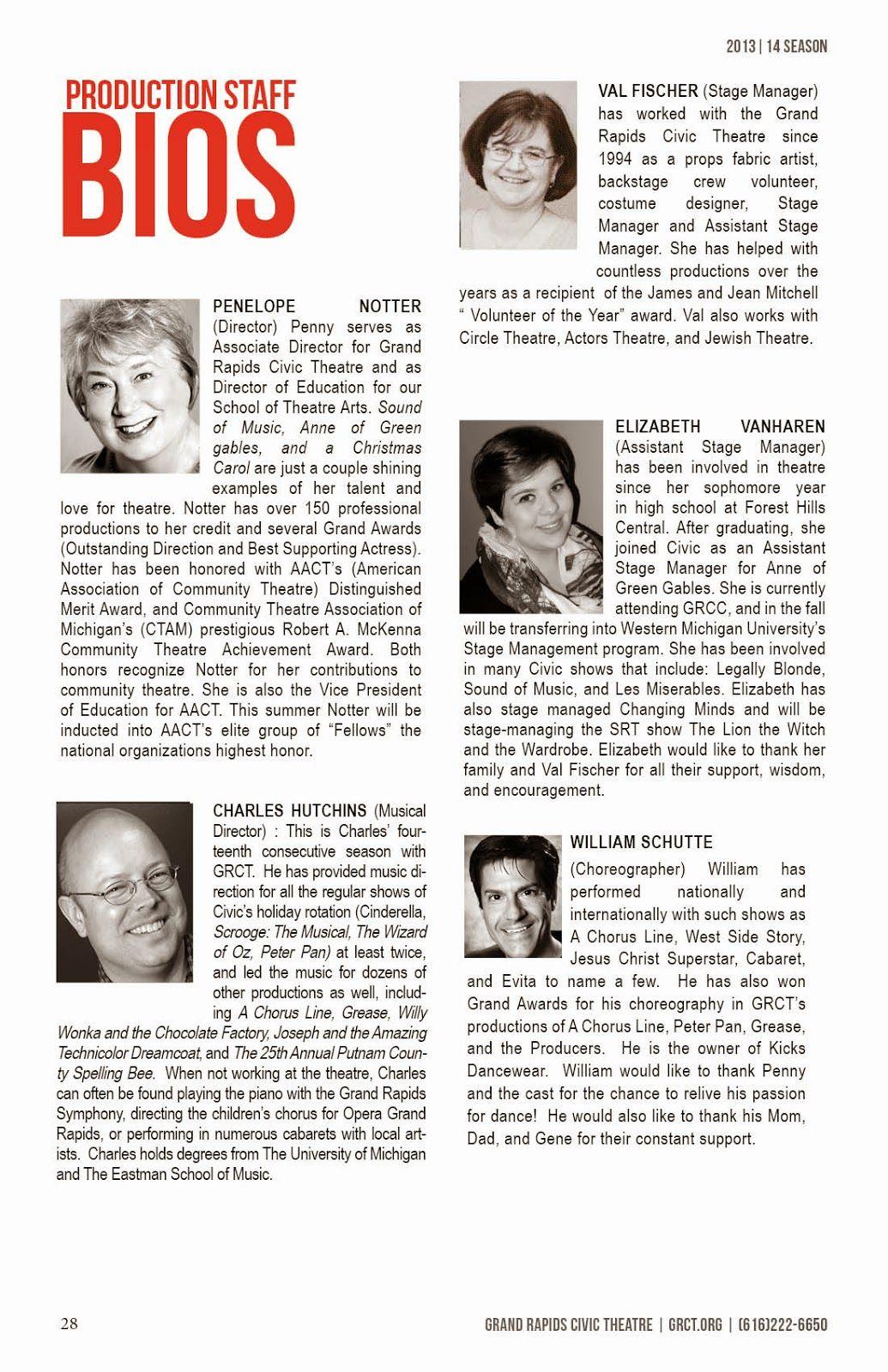 Playbill Actor Bio Example Google Search Actor Bio