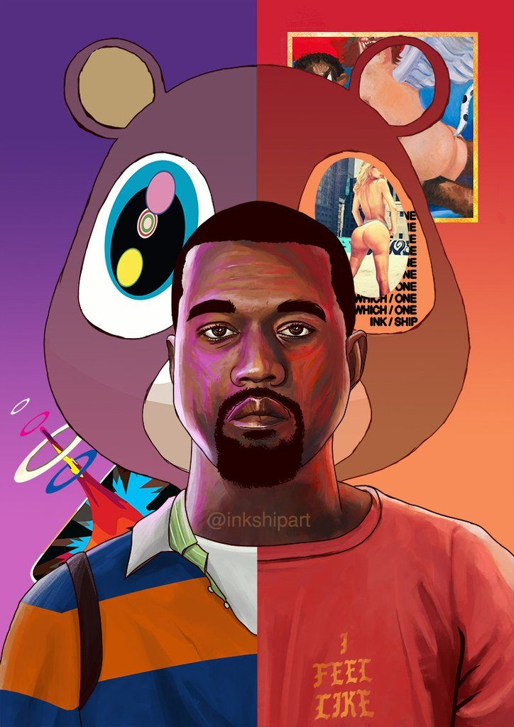 Kanye West Classic Kanye Evolution Rapper Art Cartoon Art Kanye West Wallpaper