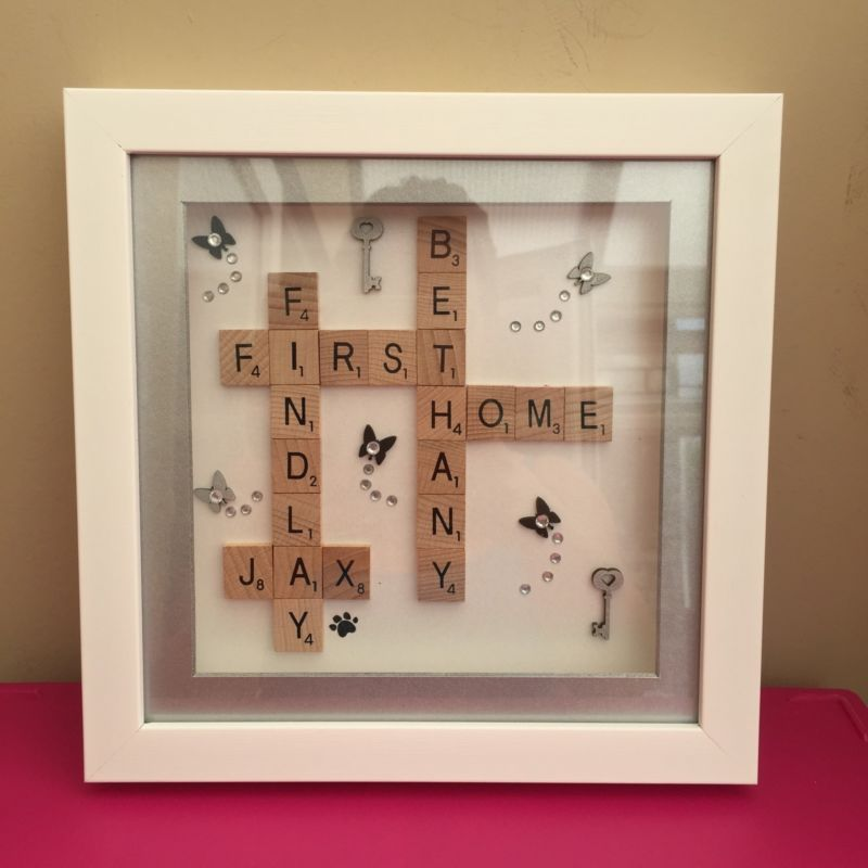 Box frame scrabble letters valentine family wedding anniversary ...