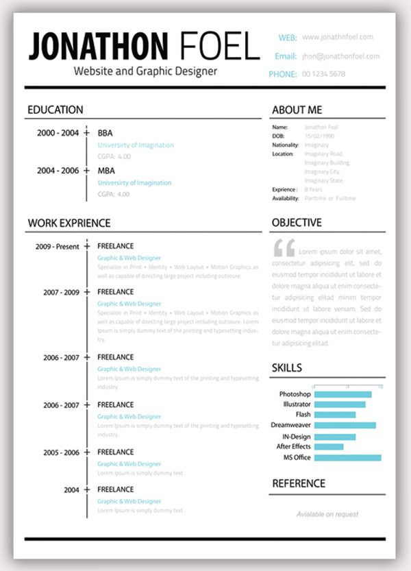 Template For Cv  Catcom  Work