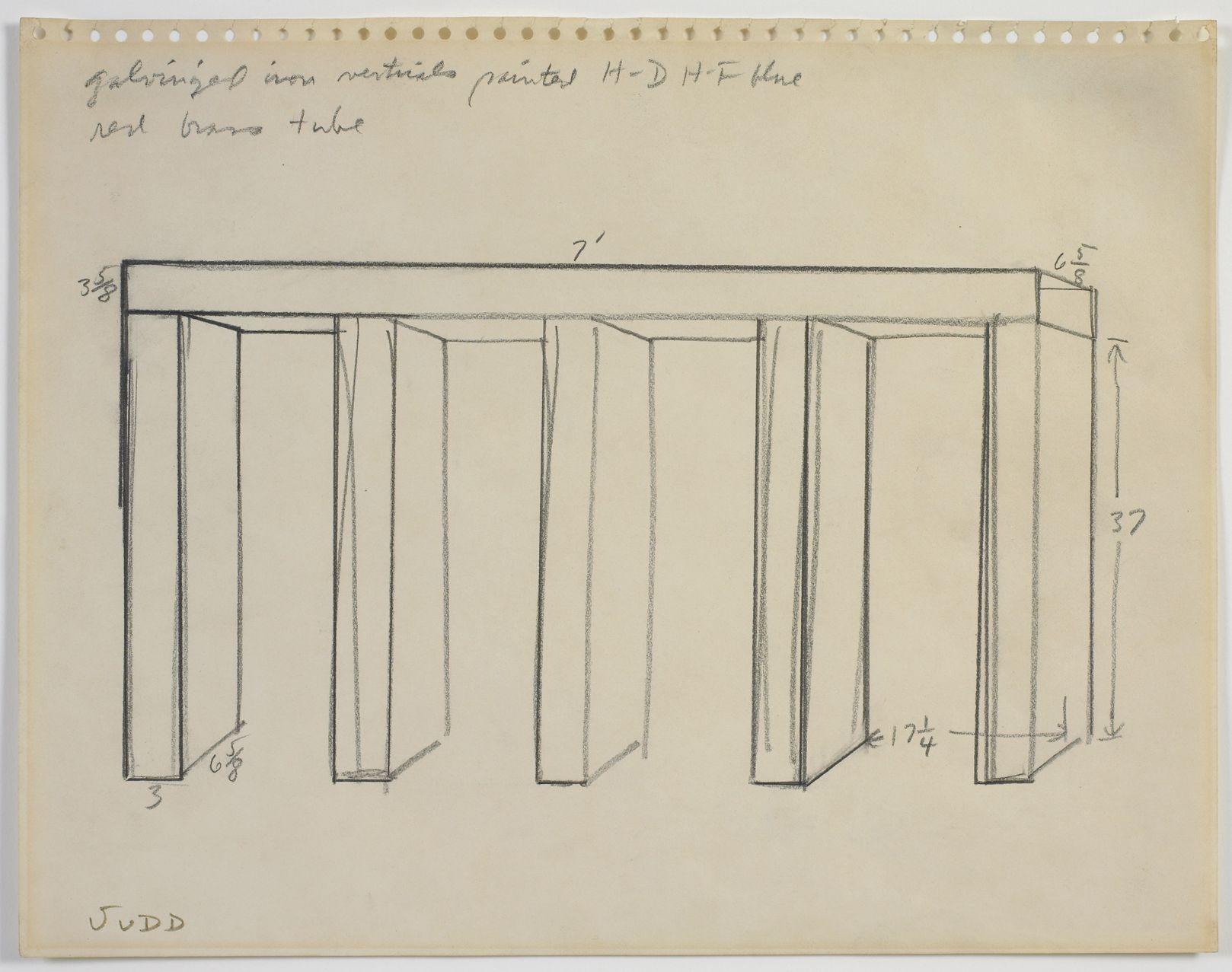 Donald judd untitled 1967 graphite on paper 10 3 4 x for Minimal art judd