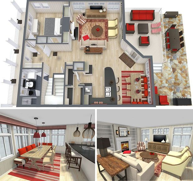 RoomSketcher Home Design Software Interior Design Project 3D Floor Plan