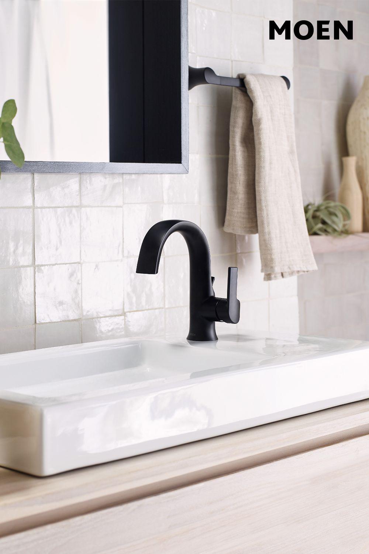 Doux Matte Black One Handle High Arc Bathroom Faucet S6910bl High Arc Bathroom Faucet Bathroom Faucets Modern Bathroom Remodel