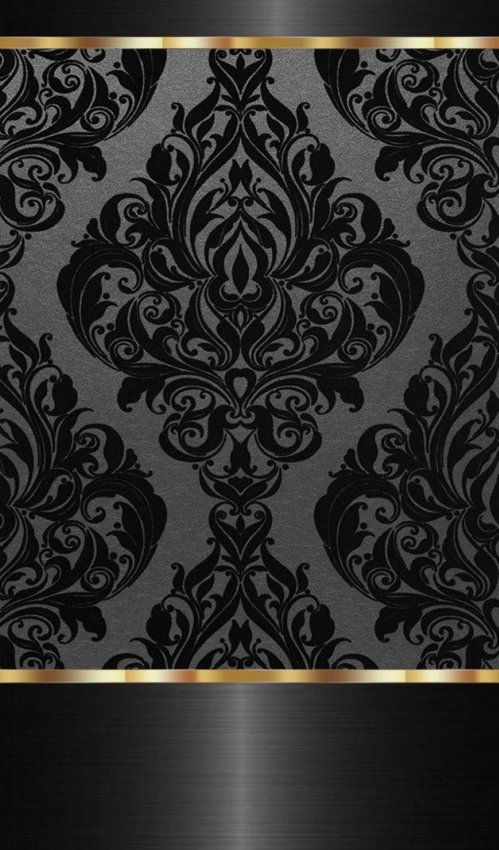 Black And Gold Damask Gold Damask Wallpaper Glam Wallpaper Phone Wallpaper Patterns
