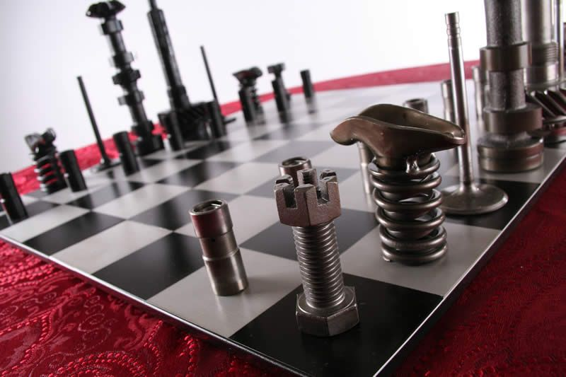 High Octane Chess Set Full Board View Chess Board Chess Set Chess