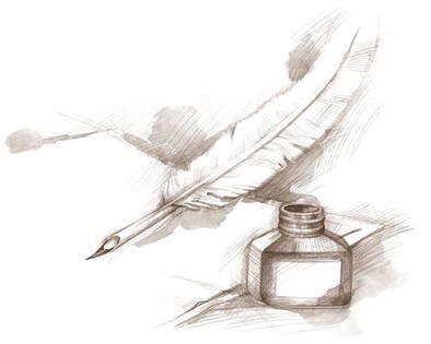 Roman Tableaux Dessin Plume Plume écriture Et Images