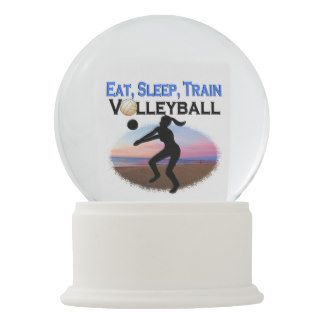 Eat Sleep Train Volleyball Snow Globe Calling All Volleyball Players Awesome Volleyball Designs On Tees And Gifts Http Www Snow Globes Life Design Globe