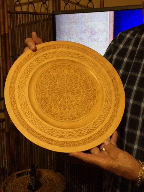 Chip carved platter by Ed Corneiro