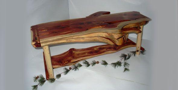 Cedar Log Furniture Plans Cedar Coffee Table 395 Rustic