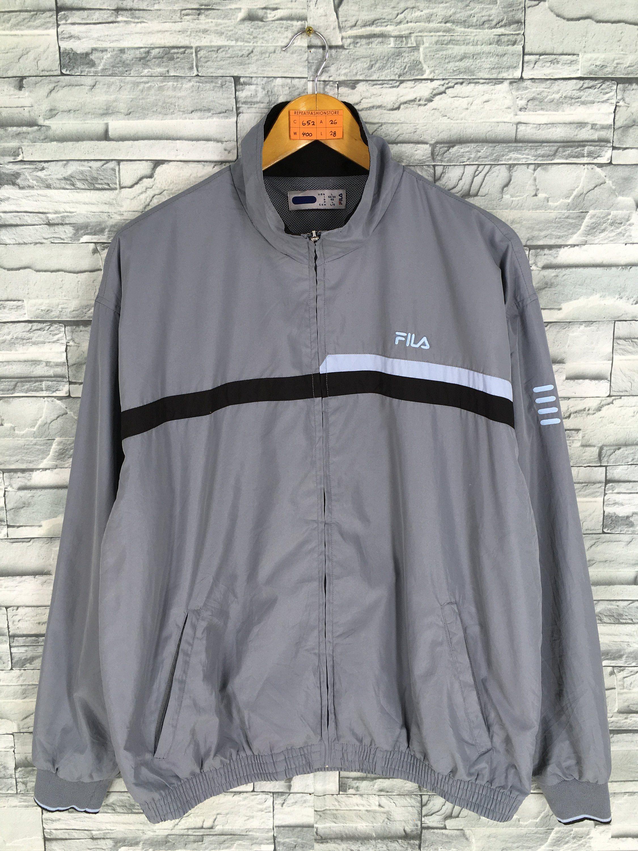 e4a4370875ae6 FILA Windbreaker Jacket Mens Large Vintage 90's Fila Italia Perugia ...