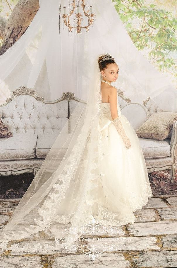An Unforgettable Mini Bride Ball Gown