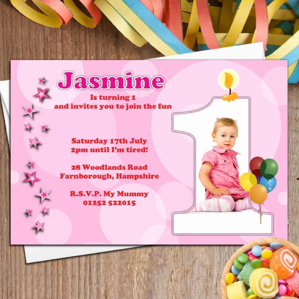 1st Birthday Party Invitation Wording in 2020 Birthday