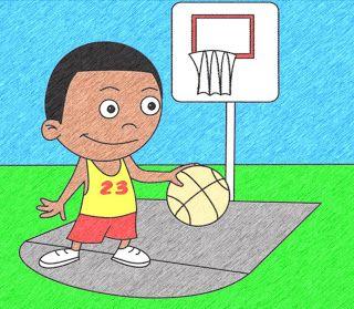 How To Draw Cartoons Basketball Player Cartoon Drawings Cartoon 3rd Grade Art