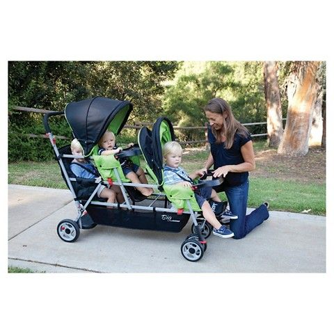 Joovy Big Caboose Stand-On Tandem Triple Stroller - Appletree ...