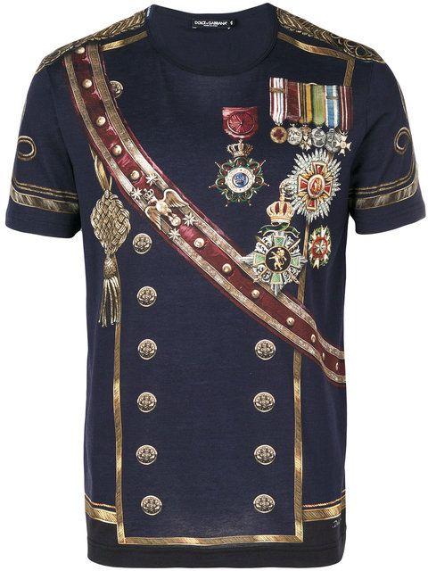 b8bac6e44 Dolce & Gabbana military print T-shirt | T Shirts | Dolce gabbana t ...